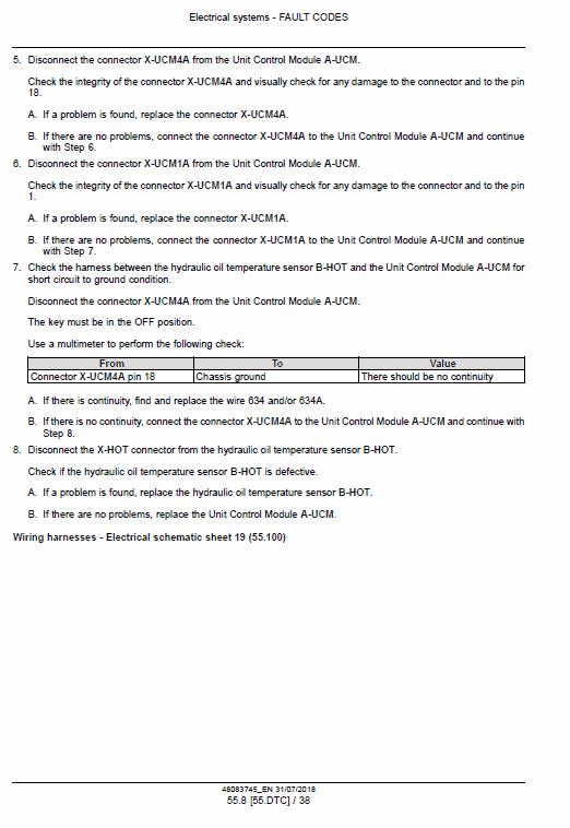 New Holland W190d, W230d Tier 2 Wheel Loader Service Manual