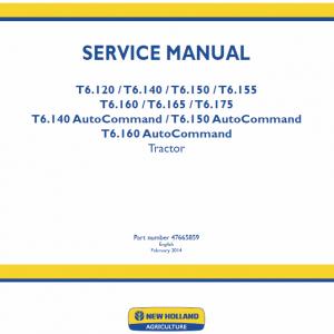 New Holland T6.160, T6.165, T6.175 Tractor Repair Manual