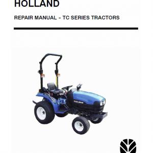 New Holland TC18D, TC21D Tractor Service Manual