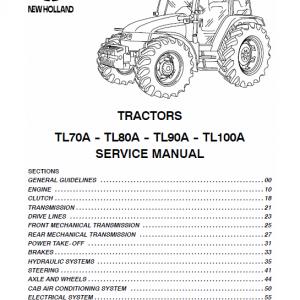New Holland TL70A, TL80A, TL90A, TL100A Tractor Repair Manual
