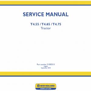 New Holland T4.55, T4.65, T4.75 Tractor Repair Manual