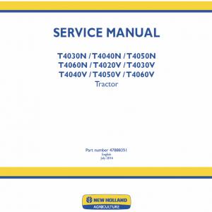 New Holland T4030N, T4040N, T4050N, T4060N Tractor Repair Manual