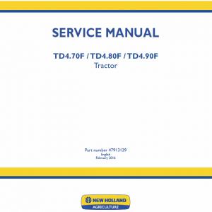 New Holland Td4.70f, Td4.80f, Td4.90f Tractor Service Manual