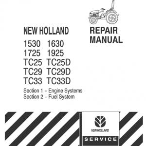 New Holland Tc25, Tc29, Tc33 Tractor Service Manual