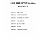 New Holland 2450, 2550 Tractor Service Manual