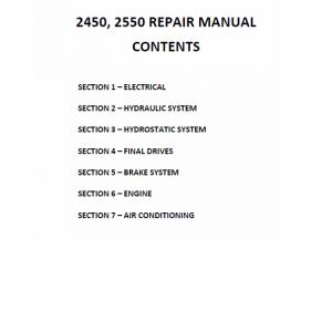 New Holland 2450, 2550 Tractor Repair Manual