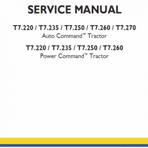 New Holland T7.220, T7.235, T7.250 Tractor Repair Manual