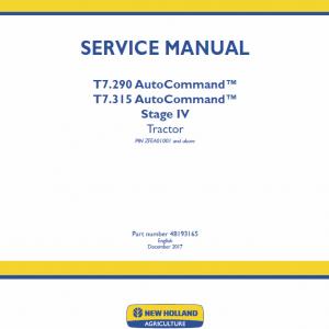New Holland T7.290, T7.315 Tractor Repair Manual