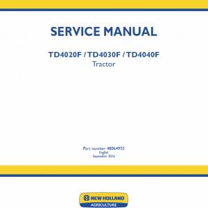 New Holland Td4020f, Td4030f, Td4040f Tractor Service Manual