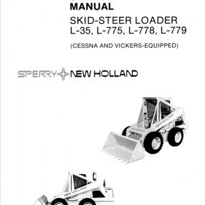 New Holland L35, L775, L778, L779 SkidSteer Repair Manual