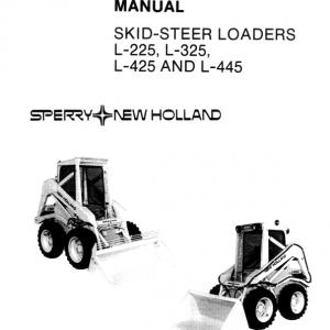 New Holland L225, L325, L425, L445 Skidsteer Service Manual
