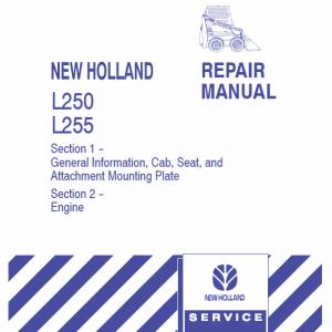 New Holland L250, L255 Skidsteer Loader Service Manual