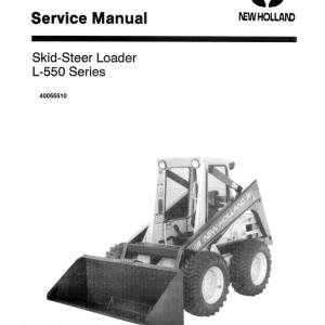 New Holland L550 Skidsteer Loader Service Manual