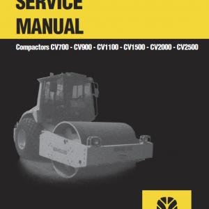 New Holland CV700, CV900, CV1100 Compactor Repair Manual