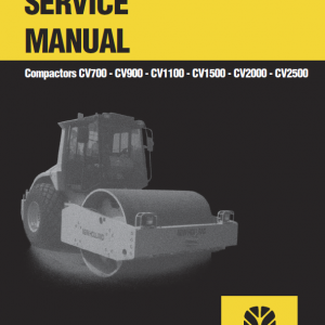 New Holland Cv1500, Cv2000, Cv2500 Compactor Service Manual