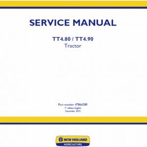 New Holland TT4.80, TT4.90 Tractor Service Manual