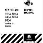 New Holland 9184, 9384, 9484, 9684, 9884 Tractor Service Manual