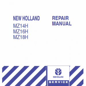 New Holland Mz14h, Mz16h, Mz18h Mower Tractor Service Manual