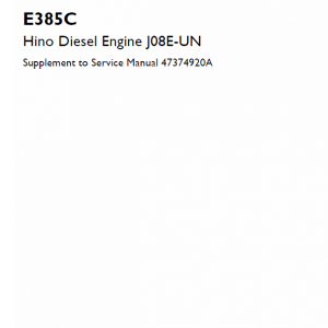 Hino Diesel Engine J08e-un Service Manual