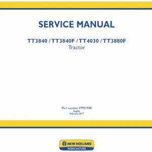 New Holland Tt3840, Tt3840f, Tt4030, Tt3880f Tractor Service Manual