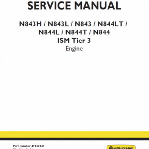 Ism Tier 3 Engine Service Repair Manual
