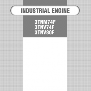Yanmar 3tnm74f, 3tnv74f, 3tnv80f Engines Repair Service Manual