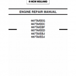 667TA EEG, 667TA EEC, 667TA EBF, 667TA EED, 667TA EBJ, 667TA EDJ Engine Manual