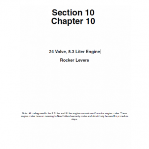 Cummins 24 Valve, 8.3 Liter Engine Service Manual