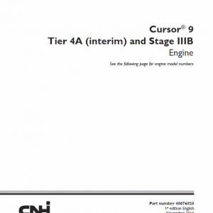 Cursor 9 Tier 4 Interim and Stage IIIB Engine Service Manual