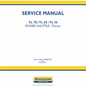 New Holland Tl75, Tl85, Tl95 Tractor Service Manual