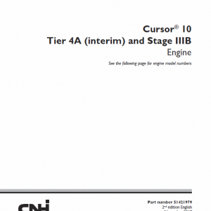 F3AFE613AA Cursor 10 Tier 4A Interim and Stage IIIB Engine Manual