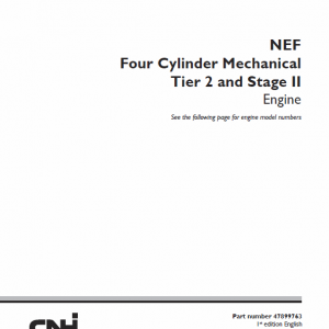 NEF Four Cylinde Mechanical Tier 2 and Stage II Engine Manual