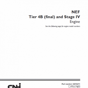 NEF Tier 4B Final and Stage IV Engine Service Manual