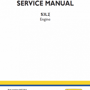 S3L2 Engine Repair Service Manual