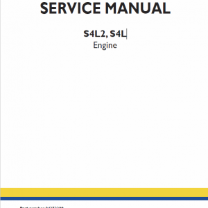 S4L2, S4L Engine Repair Service Manual