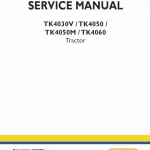 New Holland TK4030V, TK4050, TK4050M, TK4060 Tractor Repair Manual