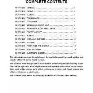 New Holland TM115, TM125, TM135, TM150, TM165 Tractor Service Manual