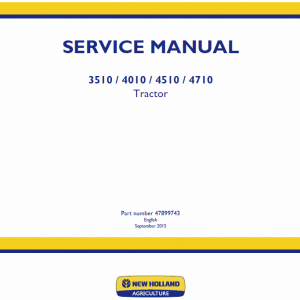 New Holland 3510, 4010, 4510, 4710 Tractor Workshop Manual