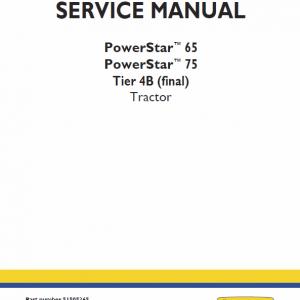 New Holland PowerStar 65, 75 Tractor Workshop Manual