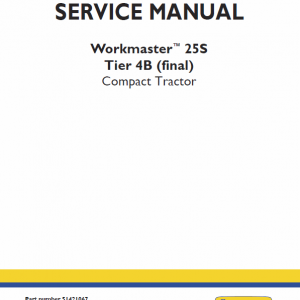 New Holland Workmaster 25s Tractor Service Manual