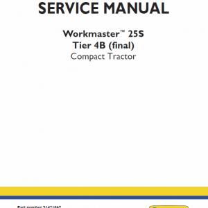 New Holland Workmaster 25S Tractor Repair Manual