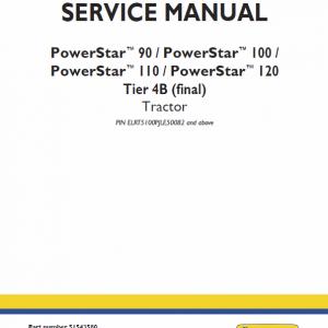 New Holland PowerStar 90, 100, 110, 120 Tractor Workshop Manual