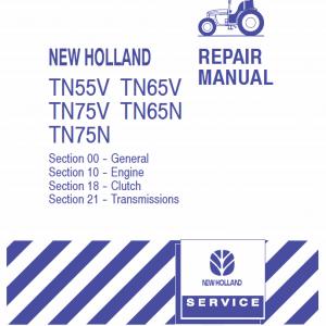 New Holland Tn55v, Tn65v, Tn75v, Tn65n, Tn75n Tractor Service Manual