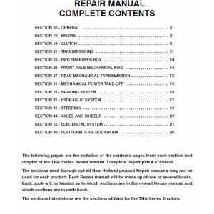 New Holland TN60A, TN70A, TN75A, TN85A, TN95A Tractor Workshop Manual