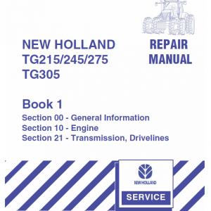 New Holland TG215, TG245, TG275, TG305 Tractor workshop Manual