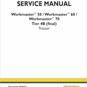 New Holland Workmaster 50, 60, 70 Tractor Repair Manual