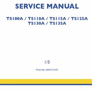 New Holland TS125A, TS130A, TS135A Tractor Workshop Manual