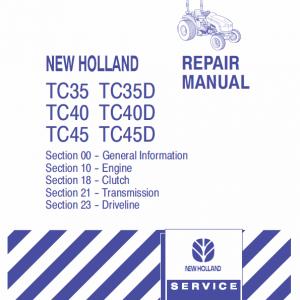 New Holland TC31, TC35, TC40, TC45 Tractor Factory Manual