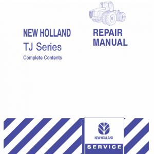 New Holland Tj275, Tj325, Tj375, Tj450 Tractors Service Manual