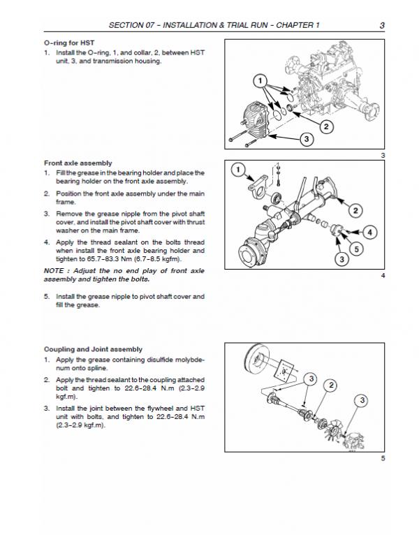 New Holland Sxm54, Sxm60 Mower Service Manual